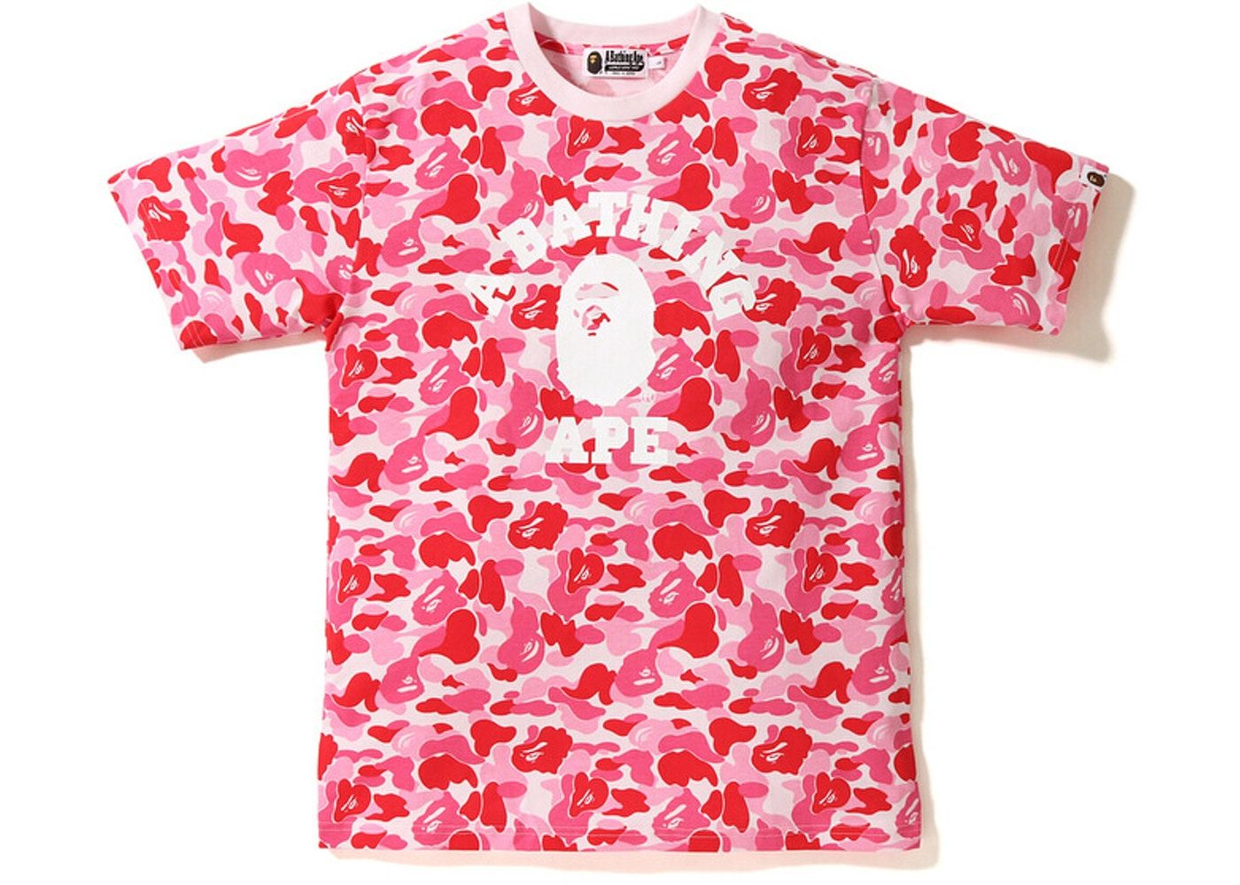 b9c85aa1 Check out the Bape ABC College Tee Pink available on StockX | shose ...