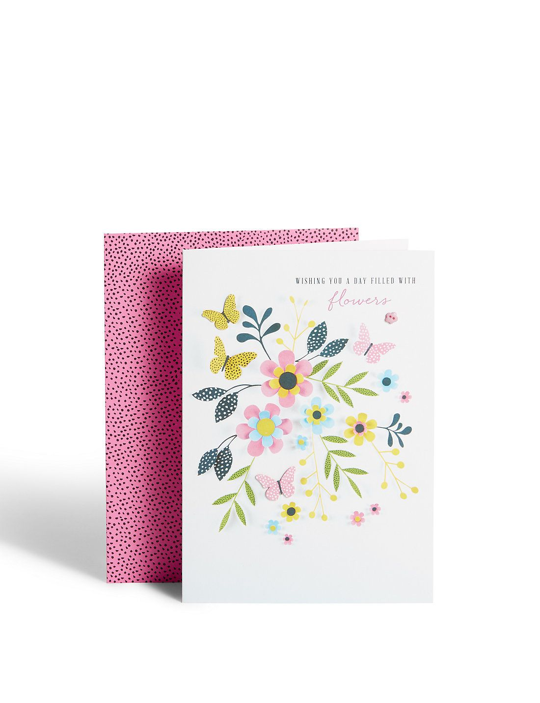 Paper floral birthday card