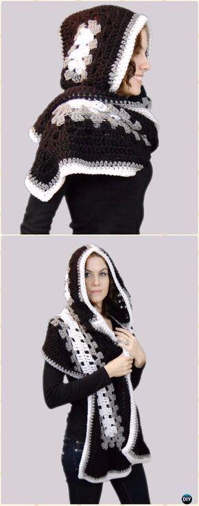 Crochet Ella Hooded Scarf Free Pattern - Crochet Hoodie Free ...