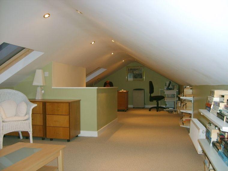 Dublin Attic Conversion As An Office Attic Conversion Low Ceiling Attic Apartment Attic Renovation