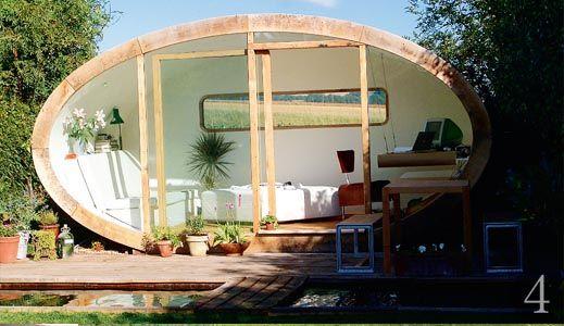 Bespoke elliptical garden room