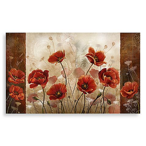 Calm Chef Poppies Floor Mat For Kitchen