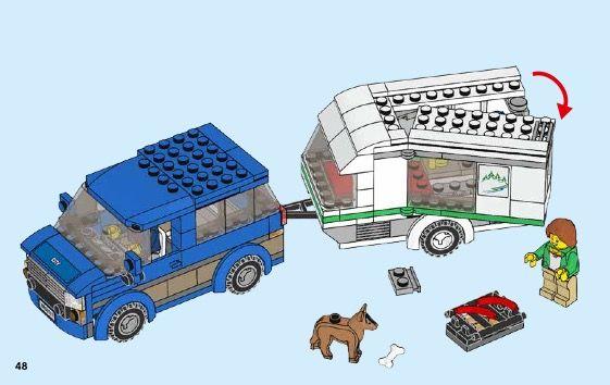 City - Van & Caravan Lego 60117 in 2020   Lego, Lego ...