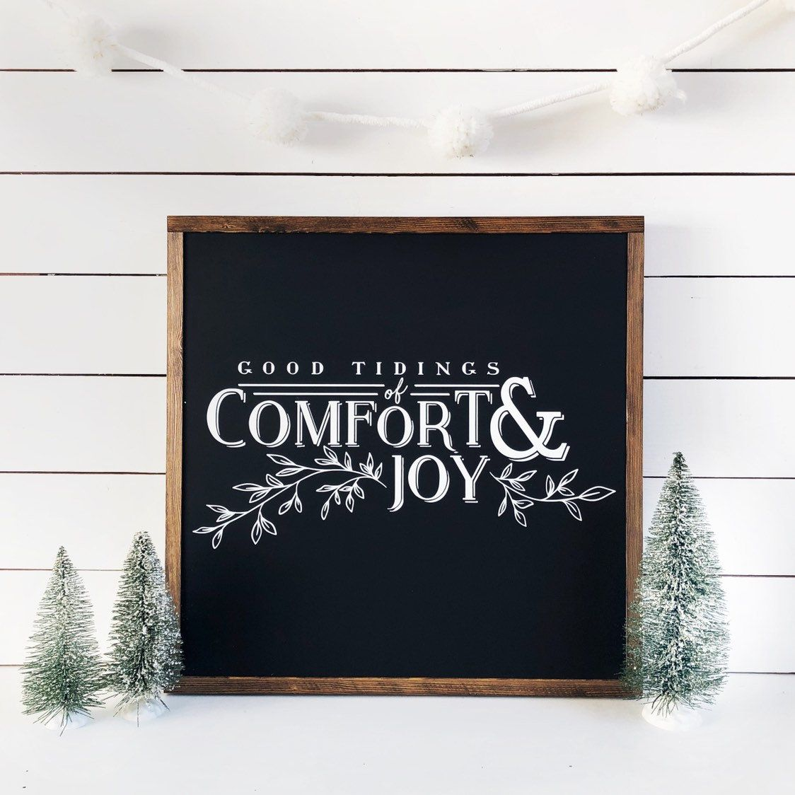 Photo of Good Tidings of Comfort and Joy sign | Rustic Christmas Sign | Ru