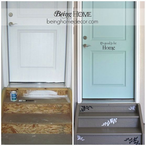 A Very Cute Idea To Make Your Garage Door Entry Adorable Makeover Love It