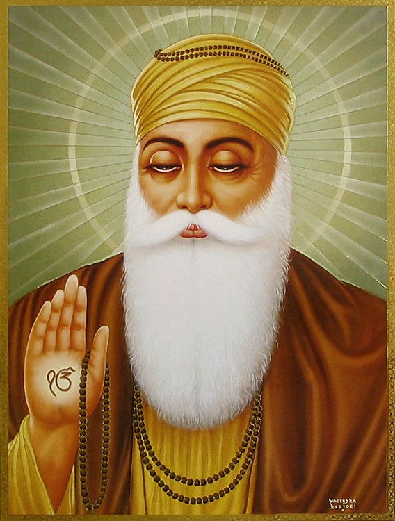 Sikh art Have you seen this beautiful Guru Nanak Dev Ji artwork ...
