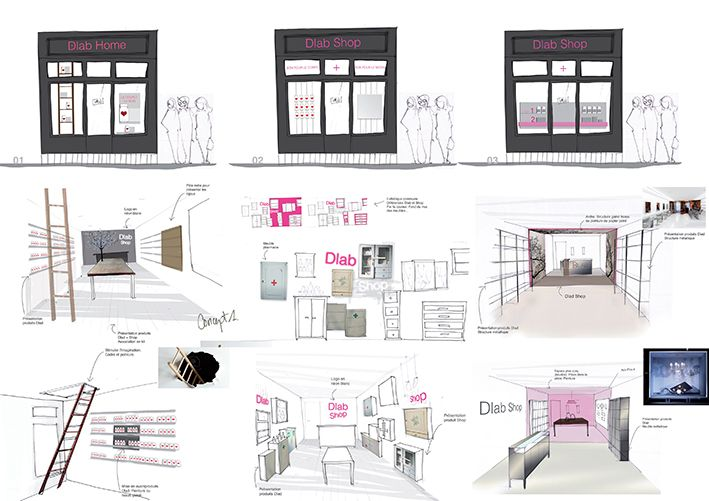 croquis boutique rue des dames dlab design by leonard el zein 2012 photo julie. Black Bedroom Furniture Sets. Home Design Ideas