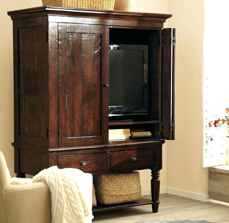Television Armoire Pocket Doors Armoires Television Armoire Pocket Doors  Armoires For Flat Screens Antique Solid Wood