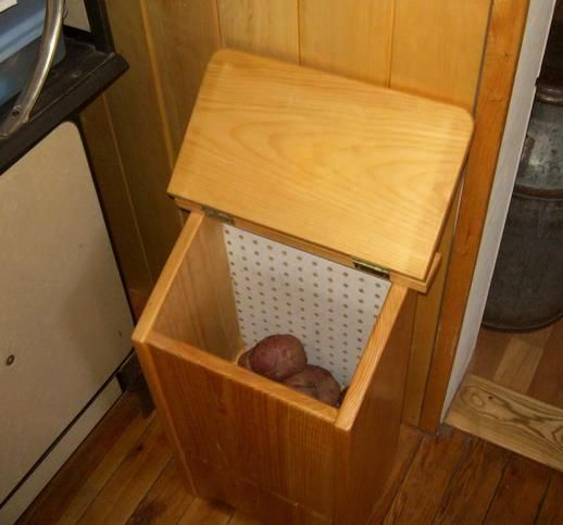 Free Potato Bin Plans - How to Make A Vegetable Storage Bin | For the Home | Pinterest | Potato ...