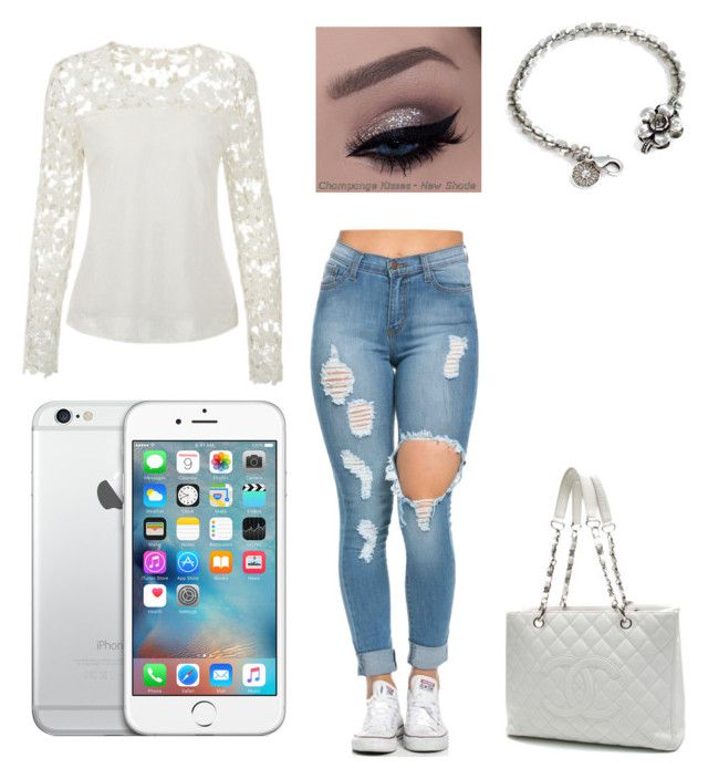 """""""Untitled #1"""" by krystle-chavez ❤ liked on Polyvore featuring Sweet Romance, Chanel, women's clothing, women, female, woman, misses and juniors"""