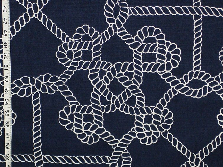 Nautical Fabric Knot Rope Sailor Sailing From Brick House