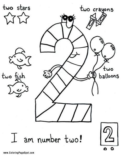 coloring pages - Number 2 Coloring Sheets For Toddlers