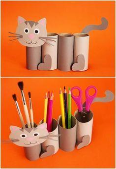 PAPER ROLL CAT CRAFT