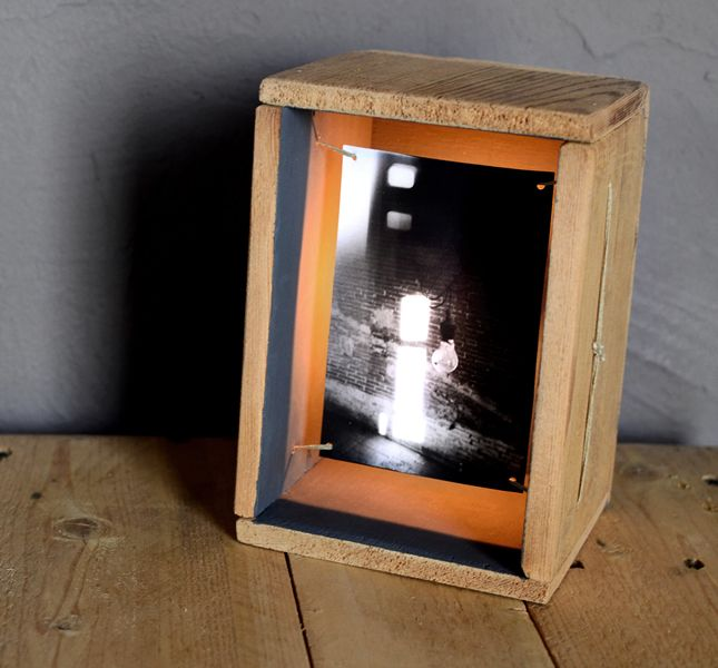HANDMADE Photo LIGHTBOX #196 __ Box made from an old DRAWER _ July 2014 _ For Julián !