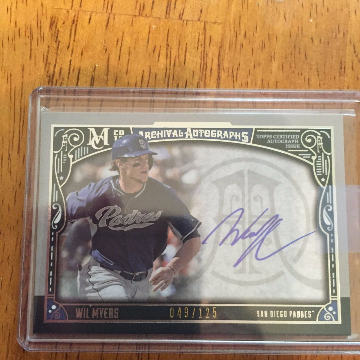 Autograph through the mail on 7/7 Wil Myers, AllStar OF