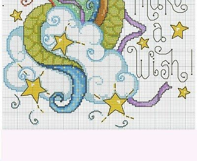 "Dragon ""Make A Wish"" #3/3 ... Punto de Cruz GRATIS: Dragón Mágico"