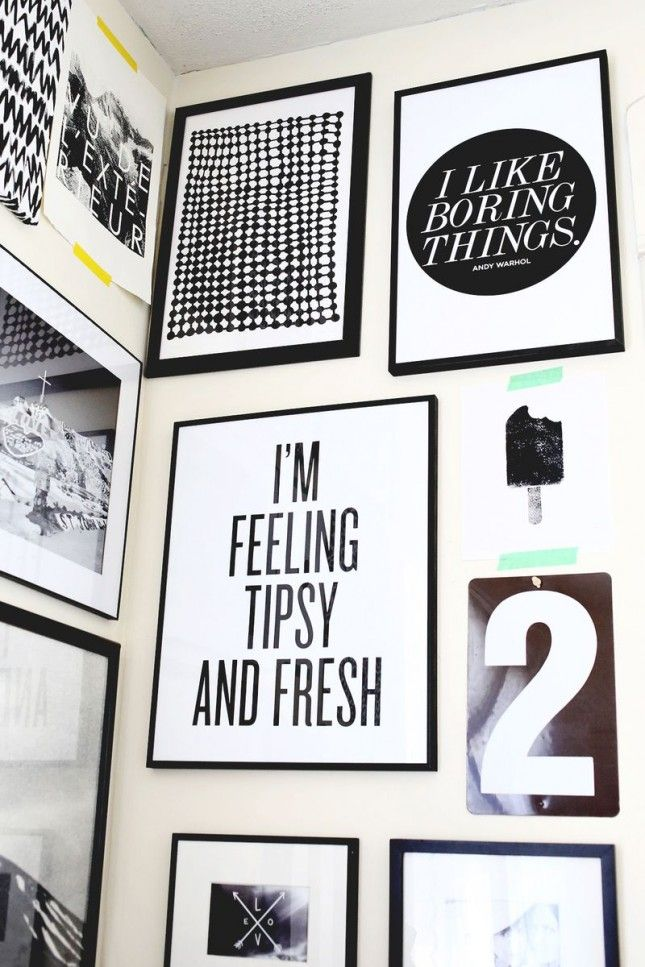 Black And White Gallery Wall 17 (free!) printables for your gallery wall | free printables