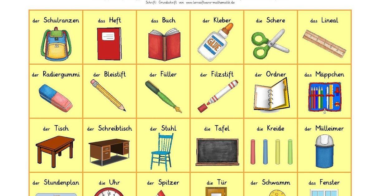 DaZ, Bingo, Spiel zum Deutschlernen, Grundschule, reif für die ...