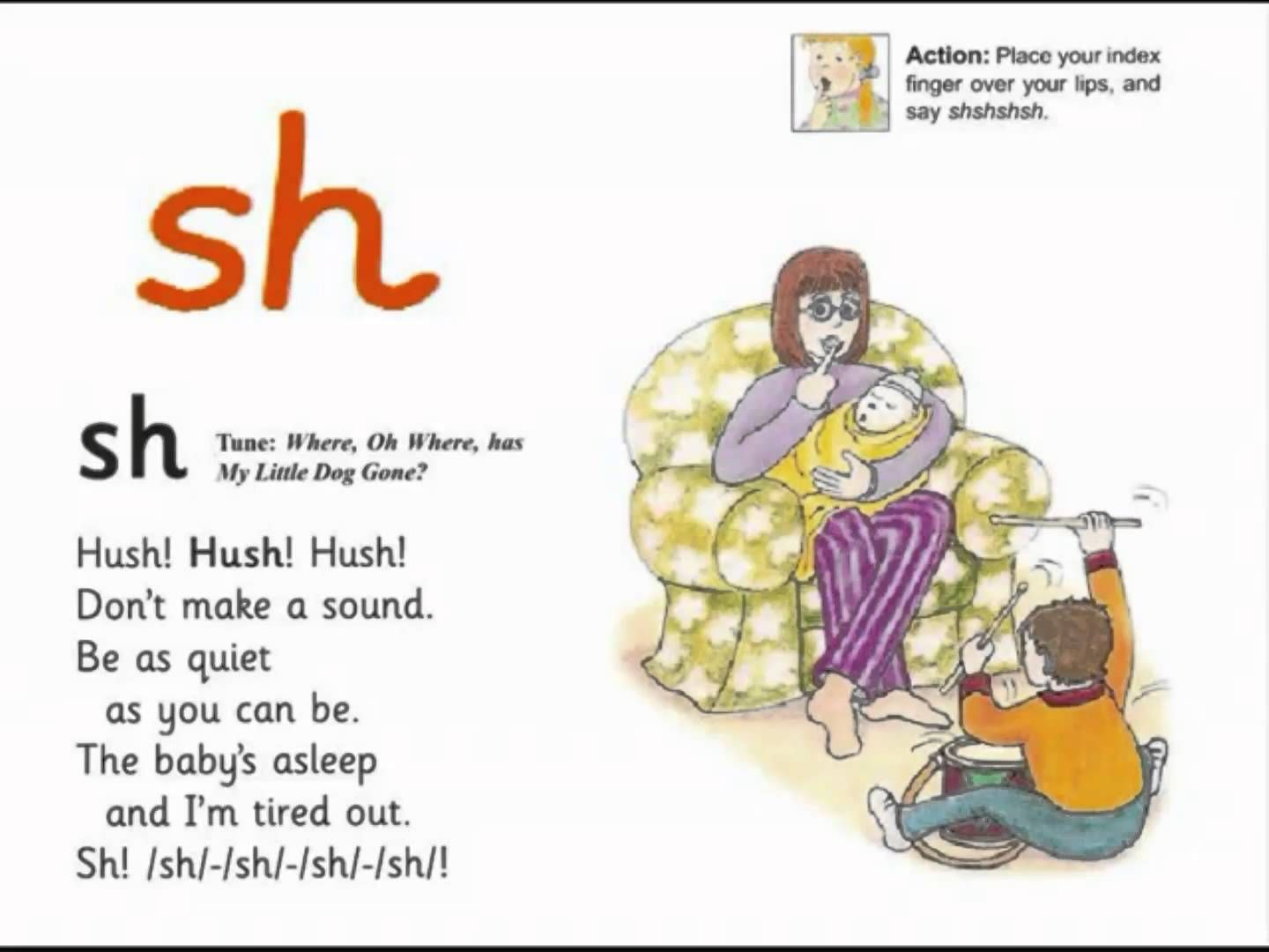Jolly Phonics Sh Song From Read Australia