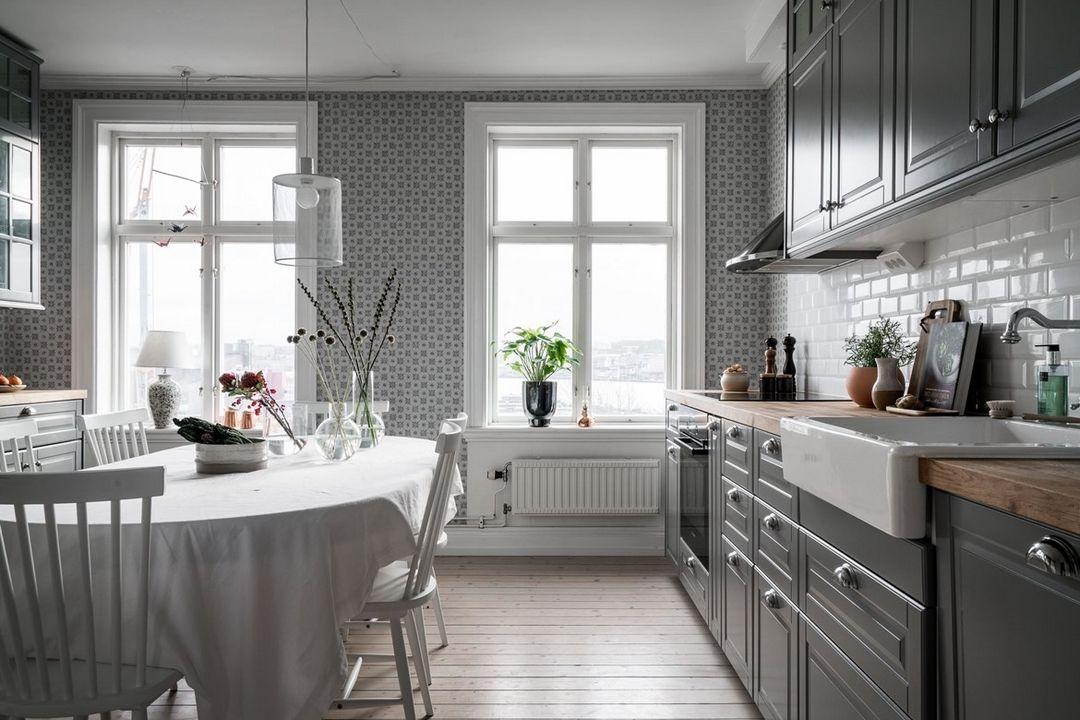 découvrir lu0027endroit du décor  GRAPHISMES GRIS ET BLANC Kitchen