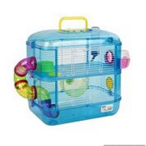 Little Zoo Hamish Fantasia 2 Hamster Gerbil Cage Blue Fraser Promotions Ltd Small Animal Cage Pet Cage Hamster Cage