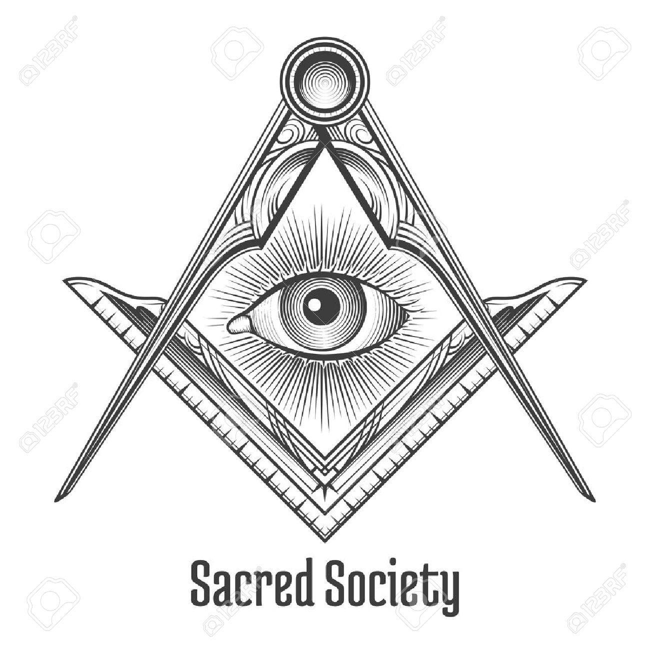 Stock Vector Masonic symbols, Compass symbol, Symbols