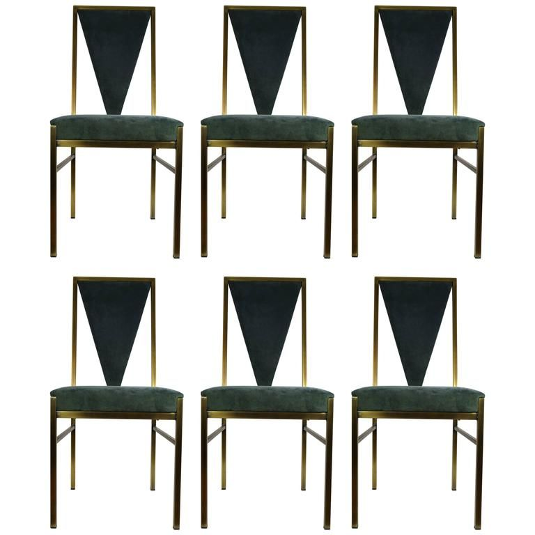 belgo chrome set of six dining chairs - Set Of Six Dining Room Chairs