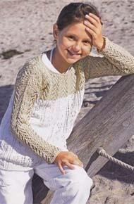 3b2022e95 Вязание для детей. Вязаный пуловер на девочку.