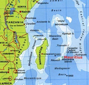 Mauritius Is Situated In The Indian Ocean Approximately - Mauritius map africa