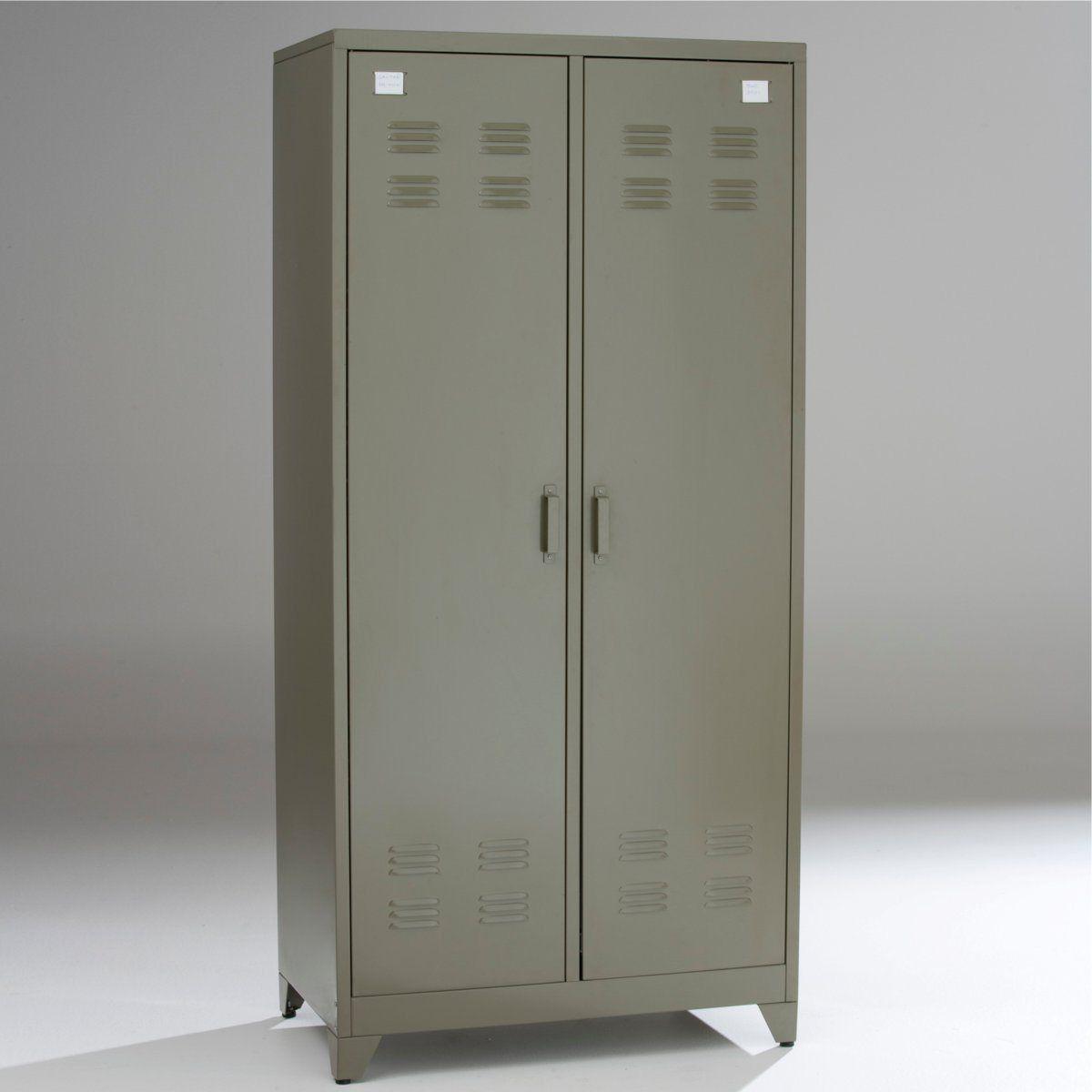 Armoire vestiaire, métal, 2 portes, HIBA Autre | La Redoute ...