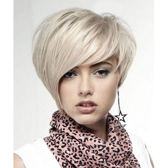 Short White Wig Pixie Cut Cheap Wigs For Women Harley Quinn Wig
