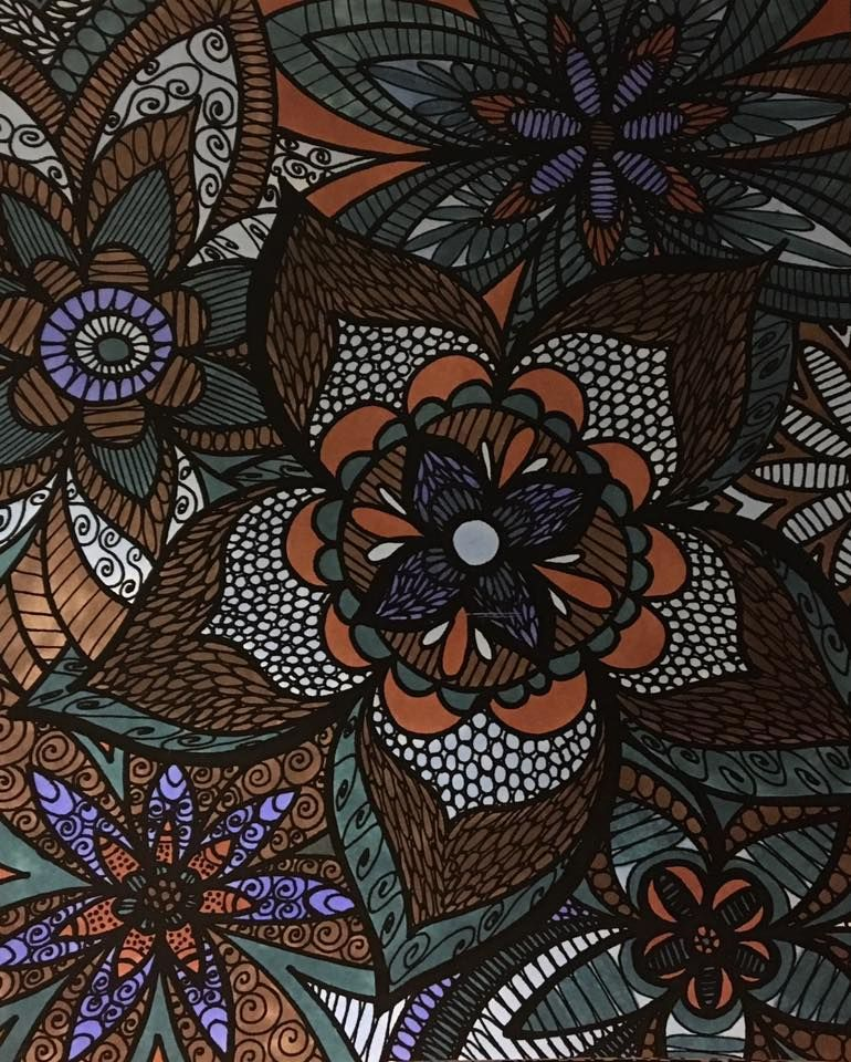 ColorIt Colorful Flowers Volume 1 Colorist: Tracey Stancil Branson #adultcoloring #coloringforadults #adultcoloringpages #flowers