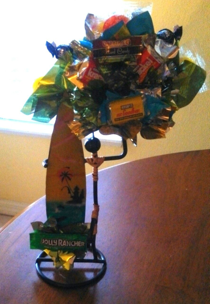 Surfing candy bouquet.