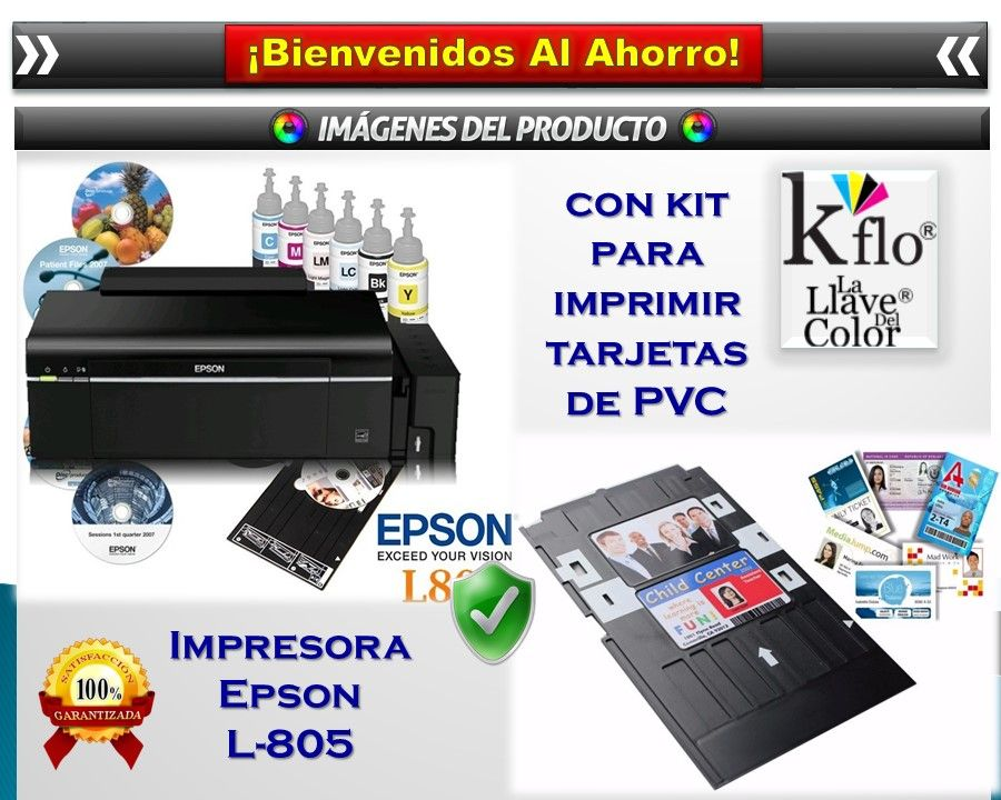 Impresora Epson L805 Bandeja Para Imprimir Credenciales Pvc 10 999 00 Impresora Imprimir Sobres Impresion De Tarjetas