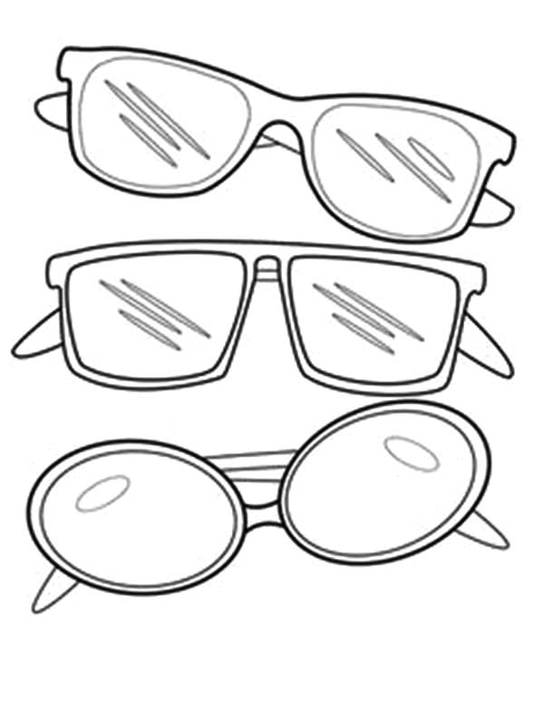 The Best Sunglasses Coloring Page
