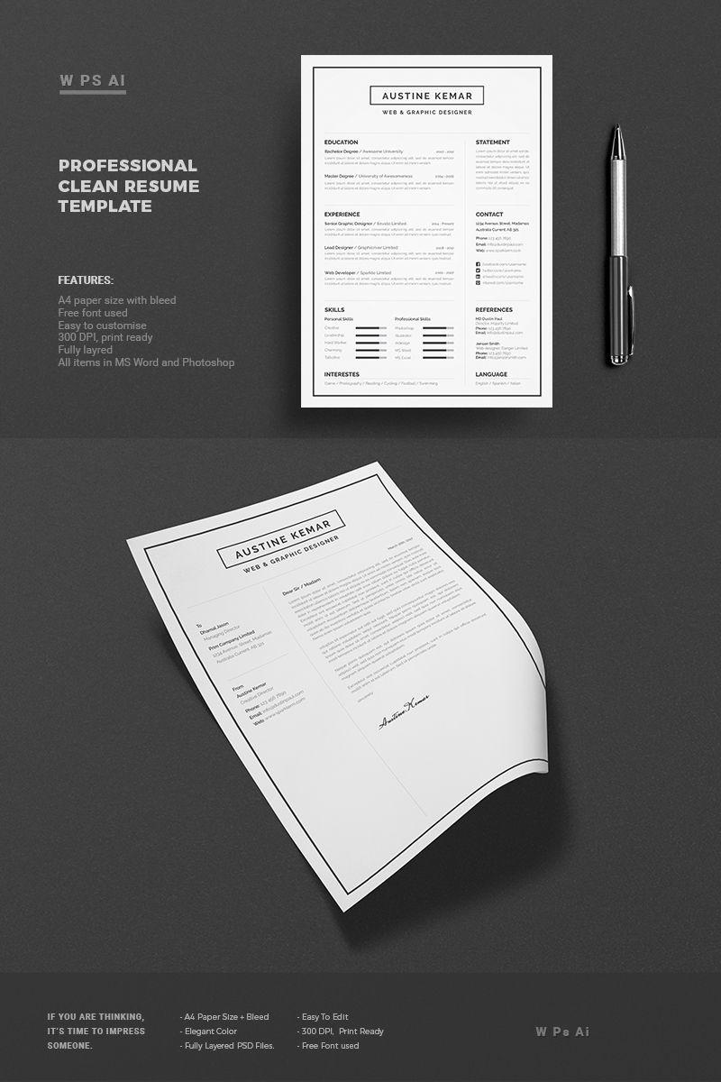 Austin kemar resume template 65430 graphic design