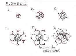Henna Tattoo Flower Template Mehndi Flower 15
