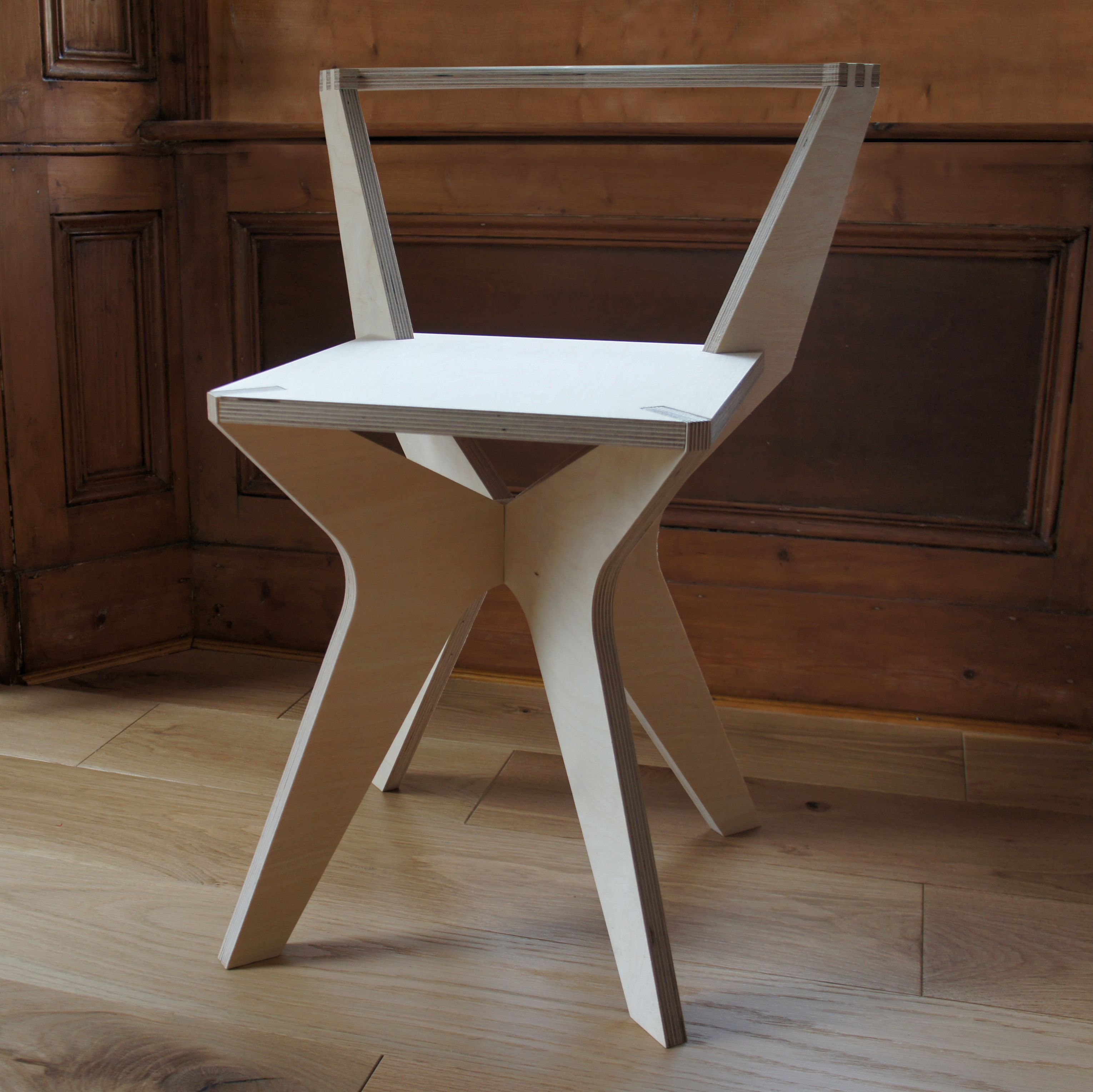 low back day chair birch plywood furniture flatpack