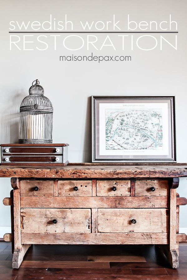 Restored Swedish Workbench - Maison de Pax. Nice FurnitureUpcycled  FurnitureVintage ... - Restored Swedish Workbench Paint Furniture, Restoration And DIY