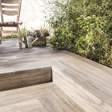 Quand le carrelage trompe-lu0027œil embellit la terrasse Verandas - photo terrasse carrelage gris