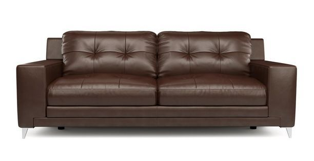 Astounding Domain Leather And Leather Look 3 Seater Sofa Le Mans Dfs Caraccident5 Cool Chair Designs And Ideas Caraccident5Info