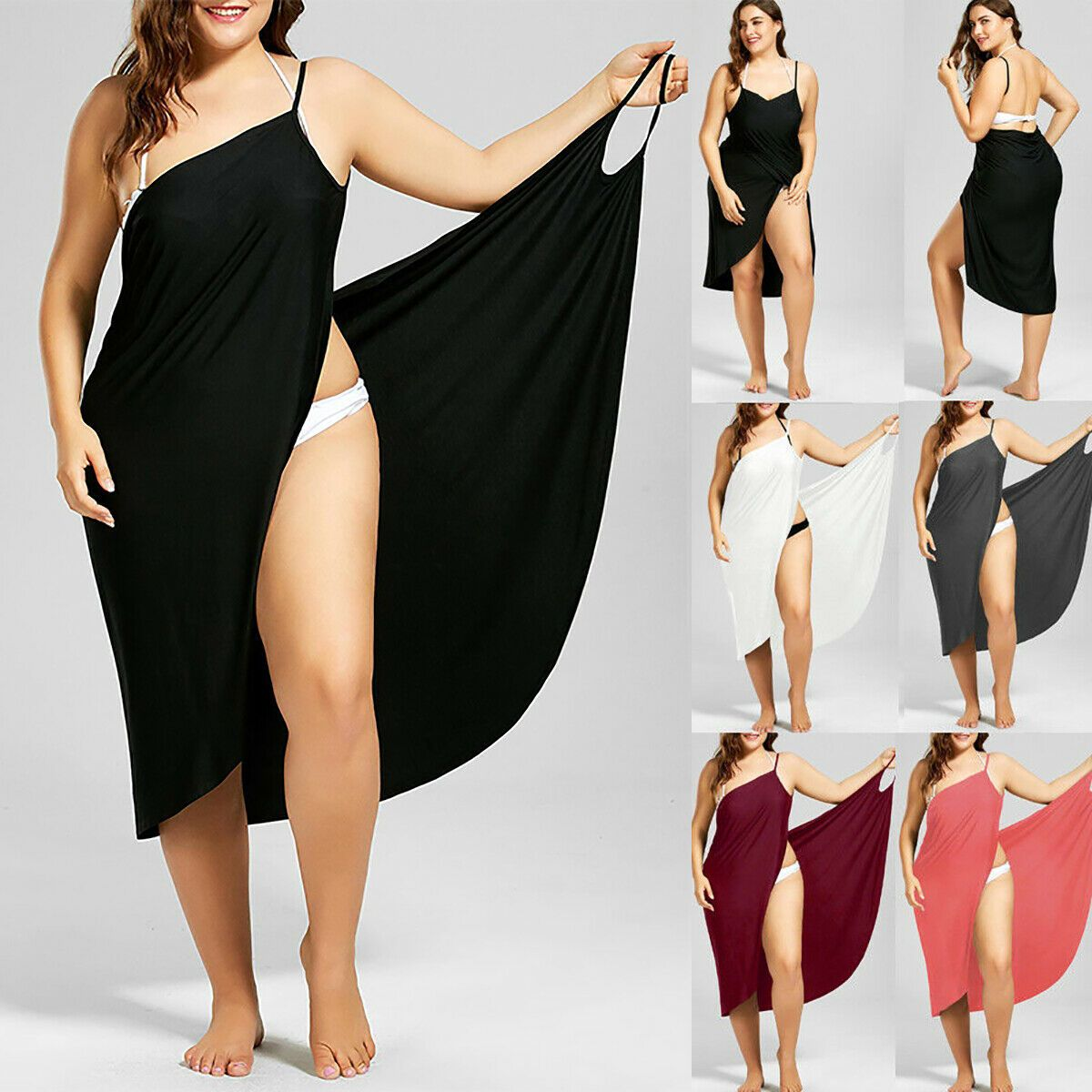 Plus Size Womens Bikini Cover Up Swimwear Beachwear Wrap Sarong