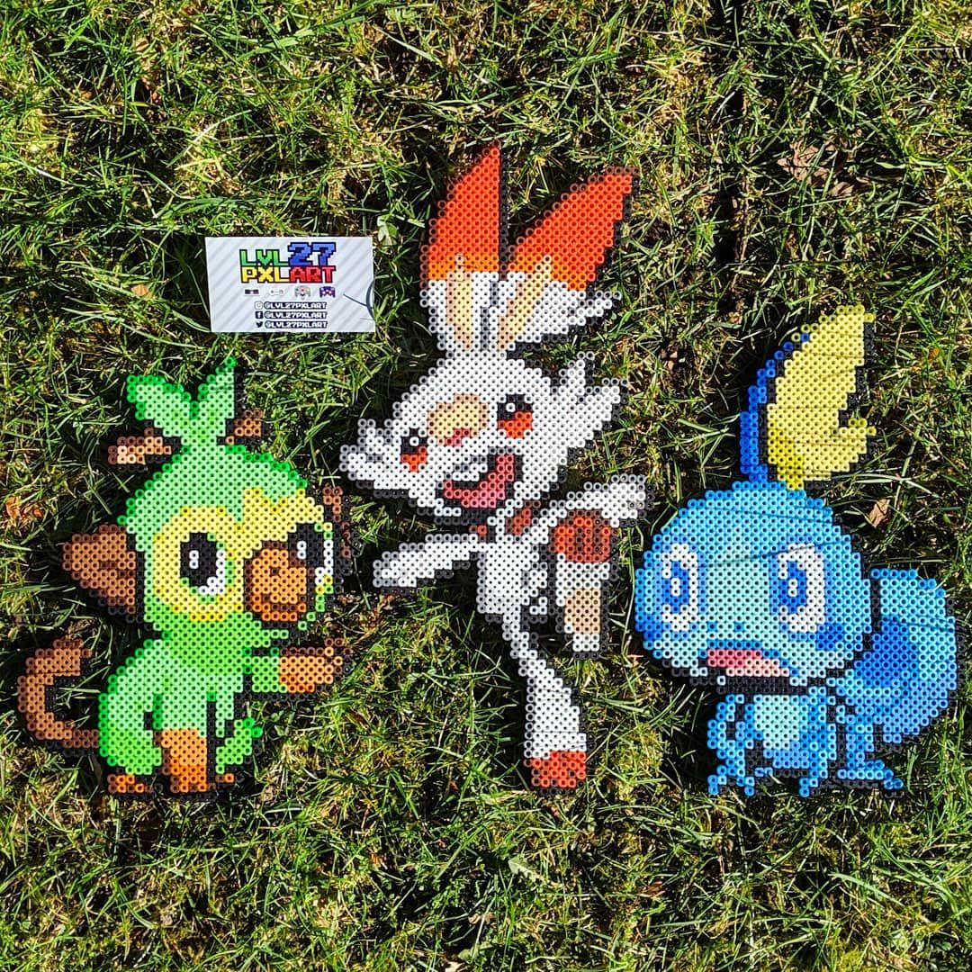 Grookey Scorbunny And Sobble In Plastic Pixelart Christmas Ornaments Holiday Decor Novelty Christmas Christmas morning opening presents 2019 with ryan emma and kate!!! christmas ornaments holiday decor