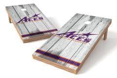 Evansville Purple Aces Single Cornhole Board - Vintage