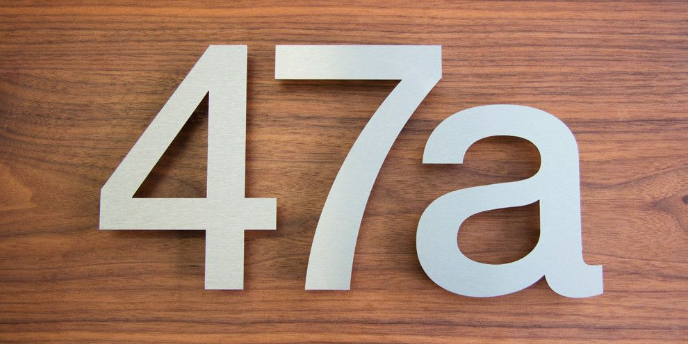 Contemporary House Numbers Stainless Steel