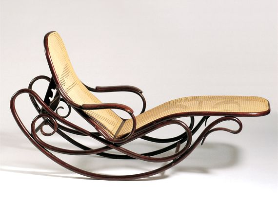 Gebr der thonet rocking sofa no 7500 1880 83 100 for Chaise bentwood