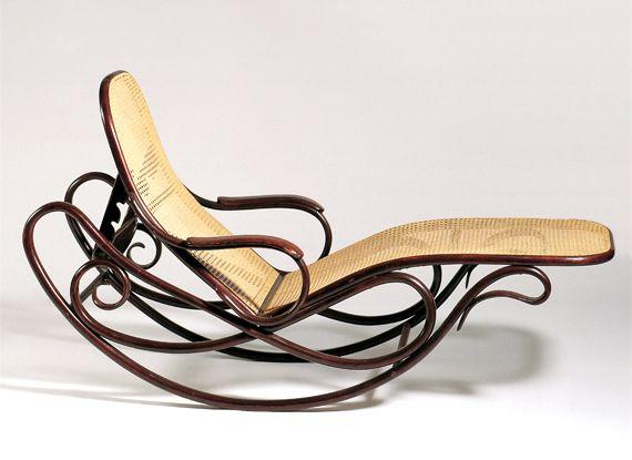 Gebr der thonet rocking sofa no 7500 1880 83 100 for Chaise bentwood