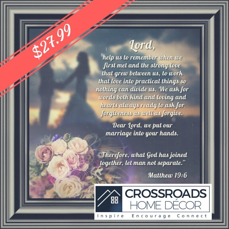 Picture Framed Prayer for Your Marriage, Christian Wedding