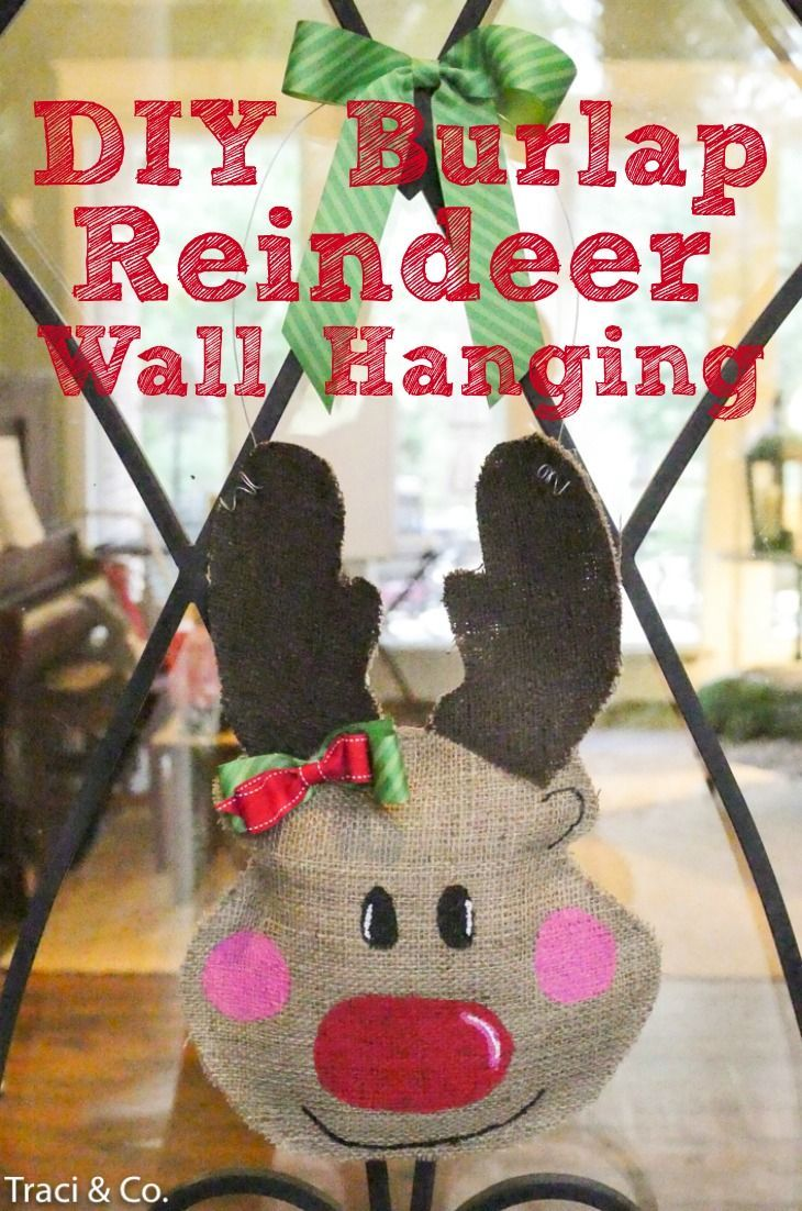 DIY Burlap Christmas Reindeer - Day 10 of The 12 days of Handmade Christmas Blog Tour -   23 burlap crafts for kids