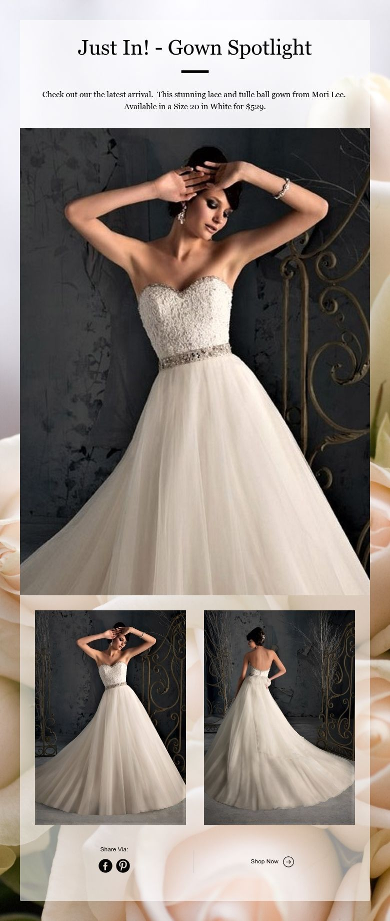Just In! - Gown Spotlight - New, Never Worn or Altered wedding gowns ...